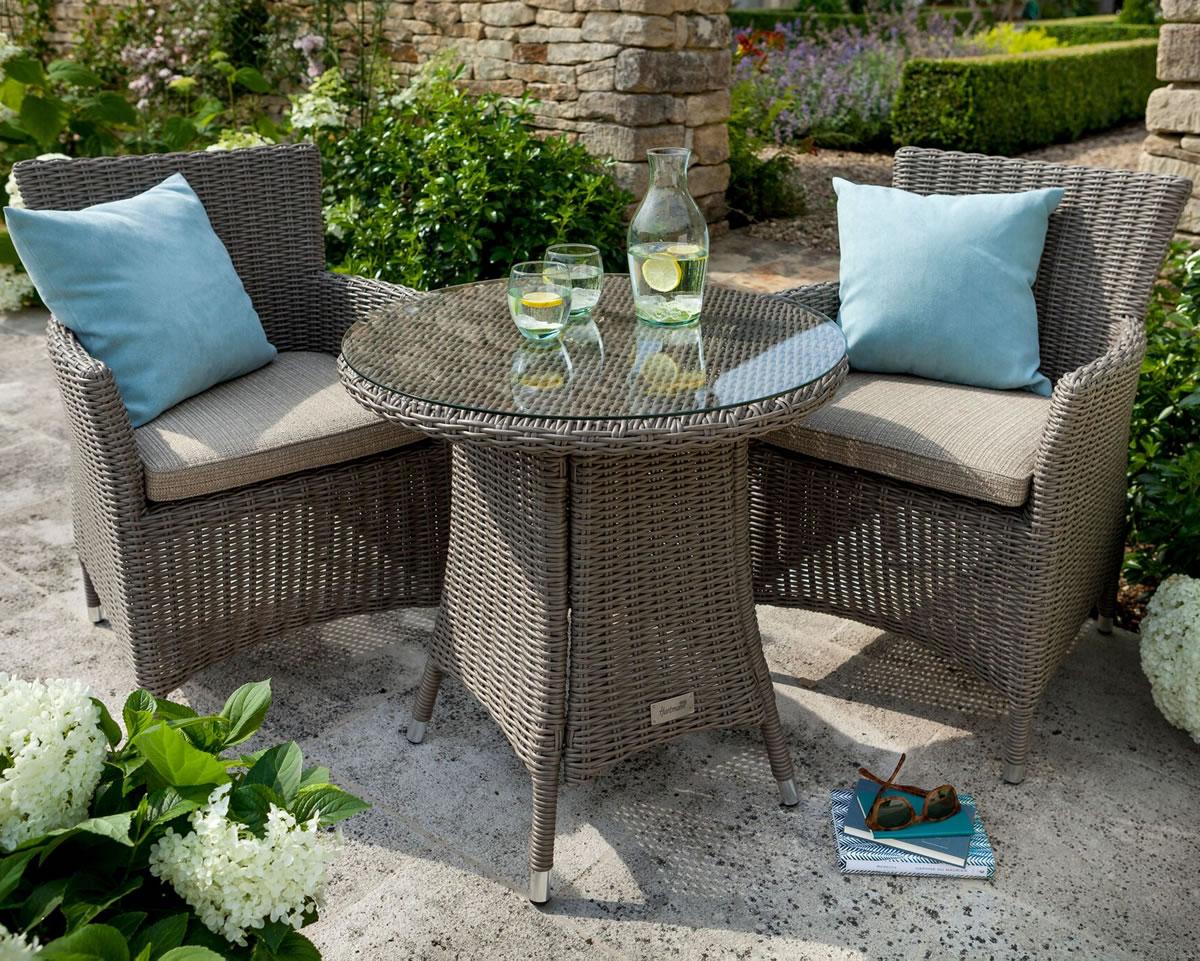 Hartman Bali Bistro Furniture Set in Chestnut / Tweed - £350 ...