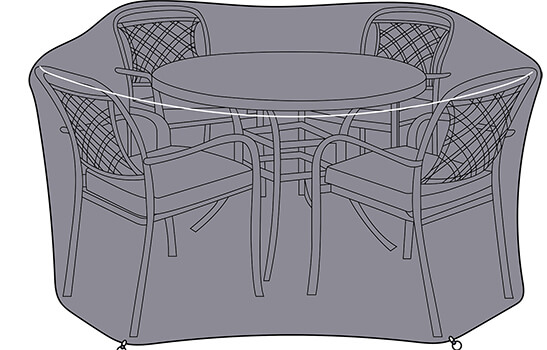 Image of Hartman Berkeley 4 Seat Round Dining Set Cover