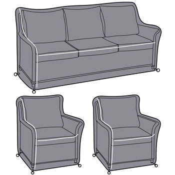 Image of Hartman Heritage 3 Seater Lounge Set Cover