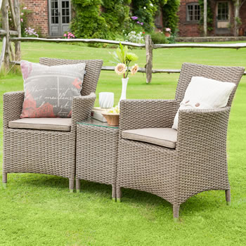 Image of Madison Weave Duet Rattan Furniture Set by Hartman Sepia/Henna