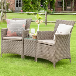 Small Image of Madison Weave Duet Rattan Furniture Set by Hartman Sepia/Henna