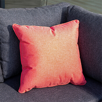 Image of Hartman Red Coral 45cm Square Waterproof Scatter Cushion