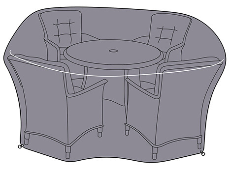 Image of Westbury 4 Seat Round Set Black Cover
