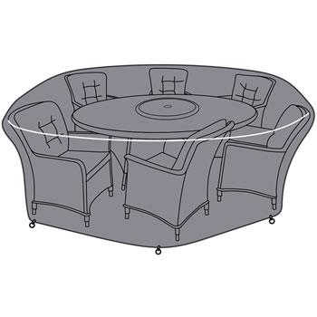 Image of Hartman Heritage 6 Seat Elliptical Dining Set Cover