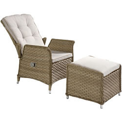Extra image of Hartman Heritage Reclining Companion Set in Beech/Dove