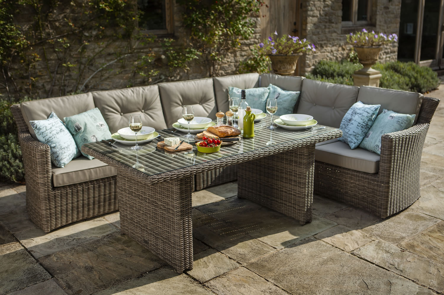 Java Casual Dining Rattan Furniture Set By Hartman 1390 Garden4Less UK Shop