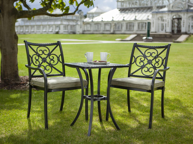hartman kew cast aluminium 2 seater garden bistro set 345 garden4less uk shop. Black Bedroom Furniture Sets. Home Design Ideas