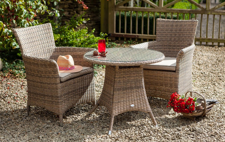 2018 Hartman Appleton Bistro Garden Furniture Set in Bark/ Sand ...