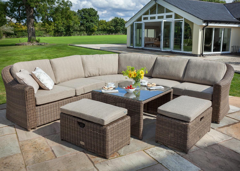 Hartman bali curved sofa furniture set in chestnut tweed £2499 garden4less uk shop