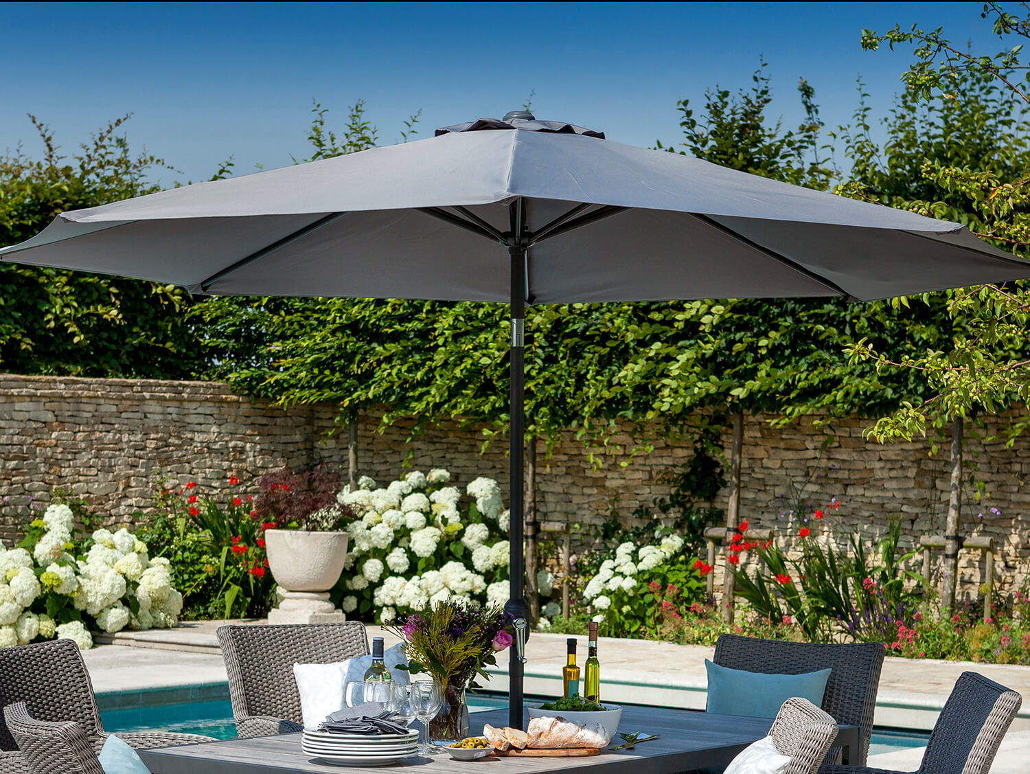 Hartman Atlanta 3m Parasol in Dusk - £70 | Garden4Less UK Shop