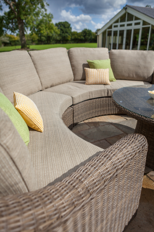 Hartman Bali Curved Lounge Weave Furniture Set In Chestnut