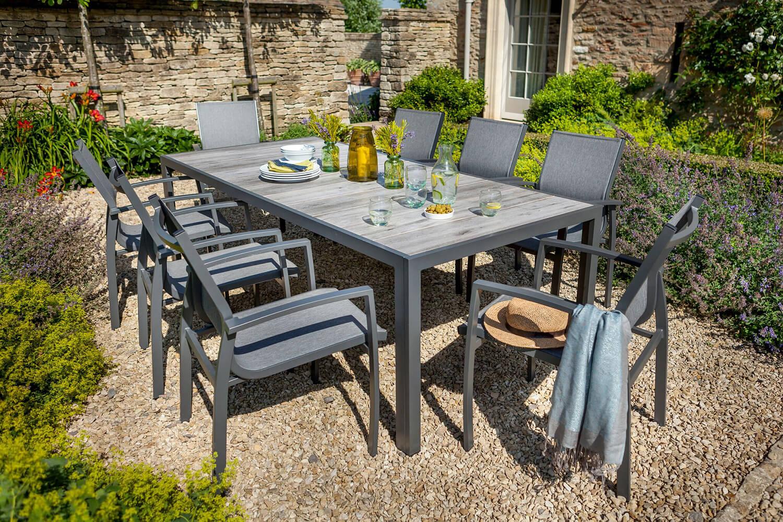 Hartman georgia seat dining set in platinum £