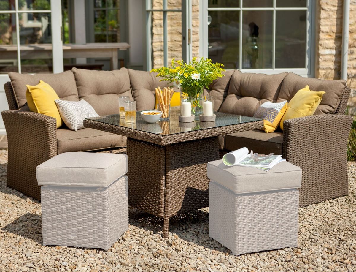 2017 hartman madison square casual dining set in sepia for Gardening 4 less reviews