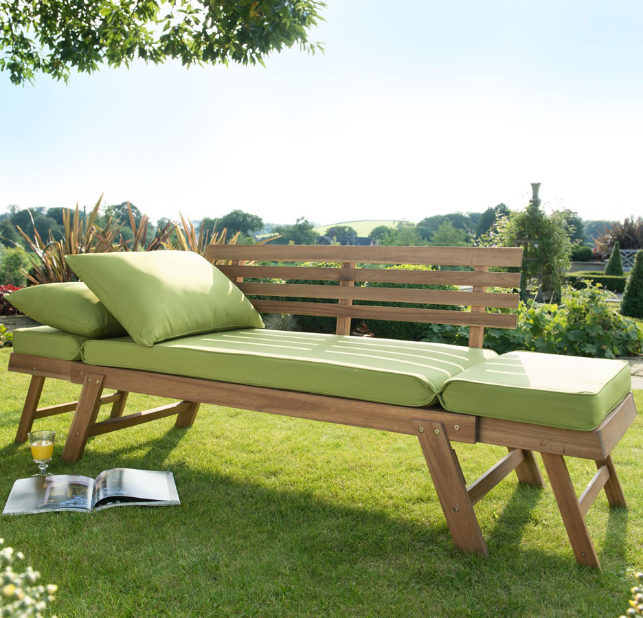 Hartman lena hardwood lounge bench 299 garden4less uk for Gardening 4 less reviews