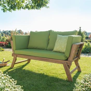 Hartman Lena Hardwood Lounge Bench 163 275 Garden4less Uk