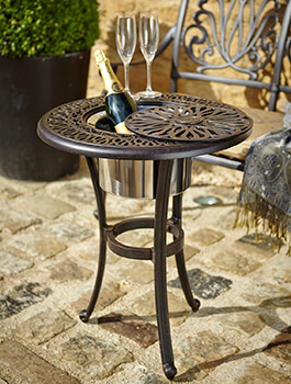Image of Hartman Amalfi Bistro Table with Ice Bucket