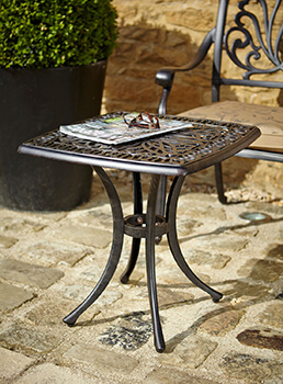 Image of Hartman Amalfi Square Side Table in Bronze
