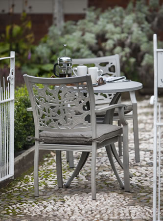 Image of Hartman Celtic Bistro Set in Riven with Spraystone Table Top