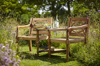 Image of Cleobury FSC Companion Garden Bench from Hartman