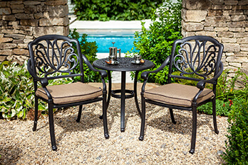 Image of 2019 Hartman Amalfi Bistro Set in Bronze / Amber