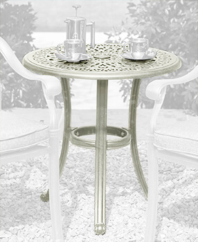 Image of 2019 Hartman Amalfi 62cm Round Bistro Table in Maize / Wheatgrass