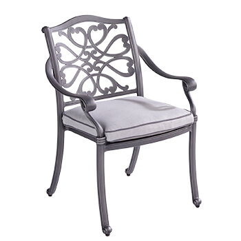 Image of Hartman Capri Dining Chair with Cushion in Antique Grey