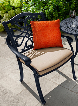 Image of Hartman Capri Dining Chair with Cushion in Bronze/Amber