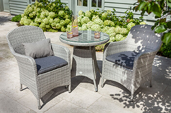 Image of Hartman Curve Bistro Set in Cool Grey / Charcoal