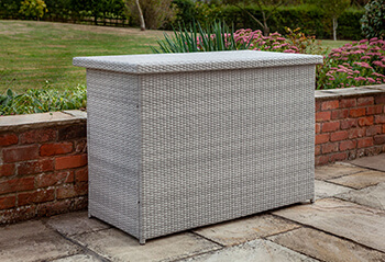 Image of Hartman Curve Weave Cushion Box in Cool Grey