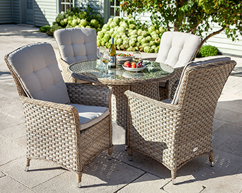 Image of Hartman Heritage 4 Seater Dining Set in Beech / Dove - NO PARASOL