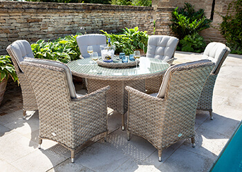 Image of Hartman Heritage 6 Seater Dining Set in Beech / Dove - NO PARASOL