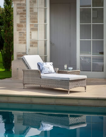 Image of Hartman Heritage Lounger with Cushion in Beech / Dove