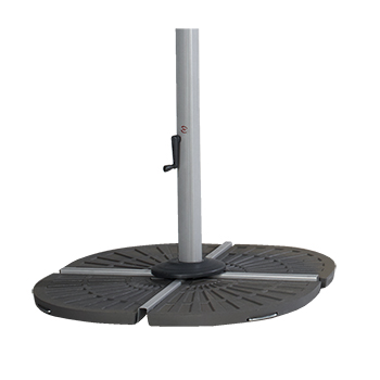 Image of Hartman Garden Cantilever Wafer Parasol Base - Grey