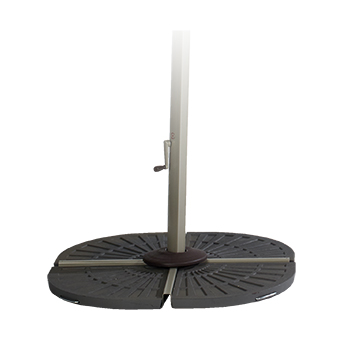 Image of Hartman Garden Cantilever Wafer Parasol Base - Brown