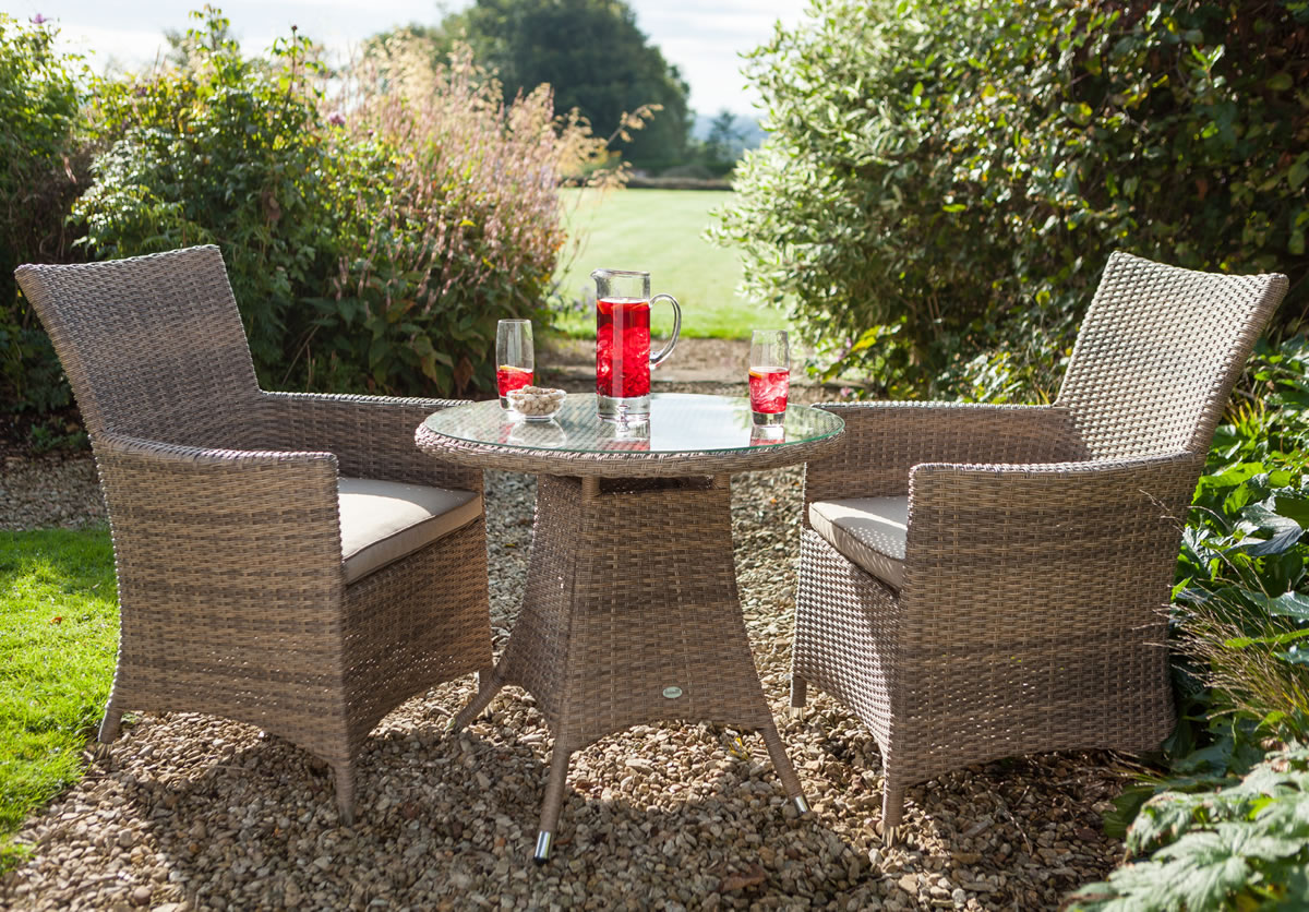 Hartman Madison Rattan Weave Garden Bistro Furniture Set - £270 ...