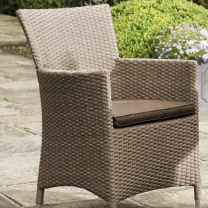 Small Image of Madison Weave Chair Sepia with Henna Cushion