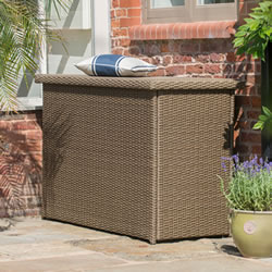 Small Image of Madison Weave Cushion Storage Box by Hartman Sepia