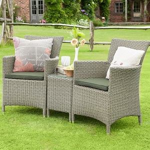 Small Image of Madison Weave Duet Rattan Furniture Set by Hartman Oyster/Olive