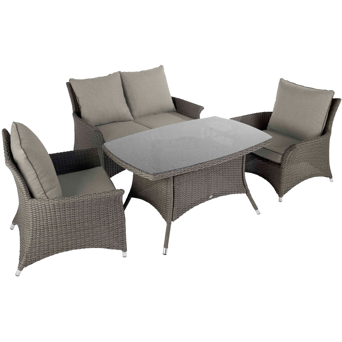 2017 Hartman Madison Casual Lounge Dining Set In Slate