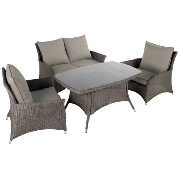 Image of 2017 - Hartman Madison Casual Lounge Dining Set in Slate / Stone