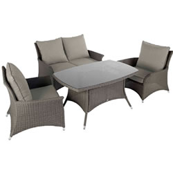Small Image of 2017 - Hartman Madison Casual Lounge Dining Set in Slate / Stone