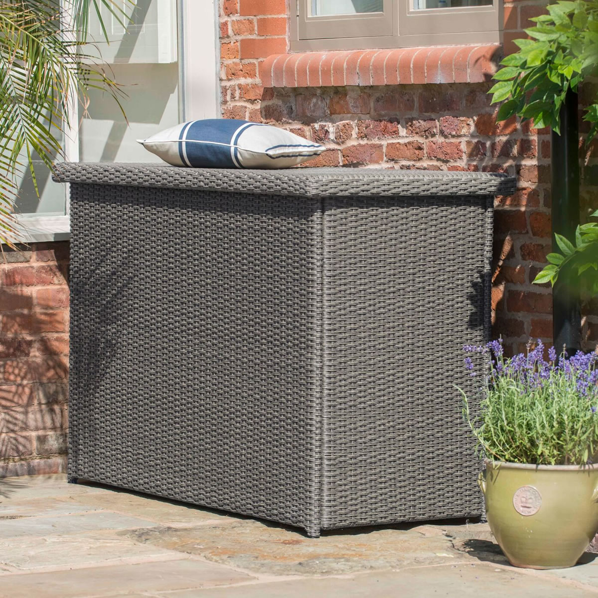 Small Image Of 2018 Hartman Madison Weave Cushion Storage Box In Slate ...