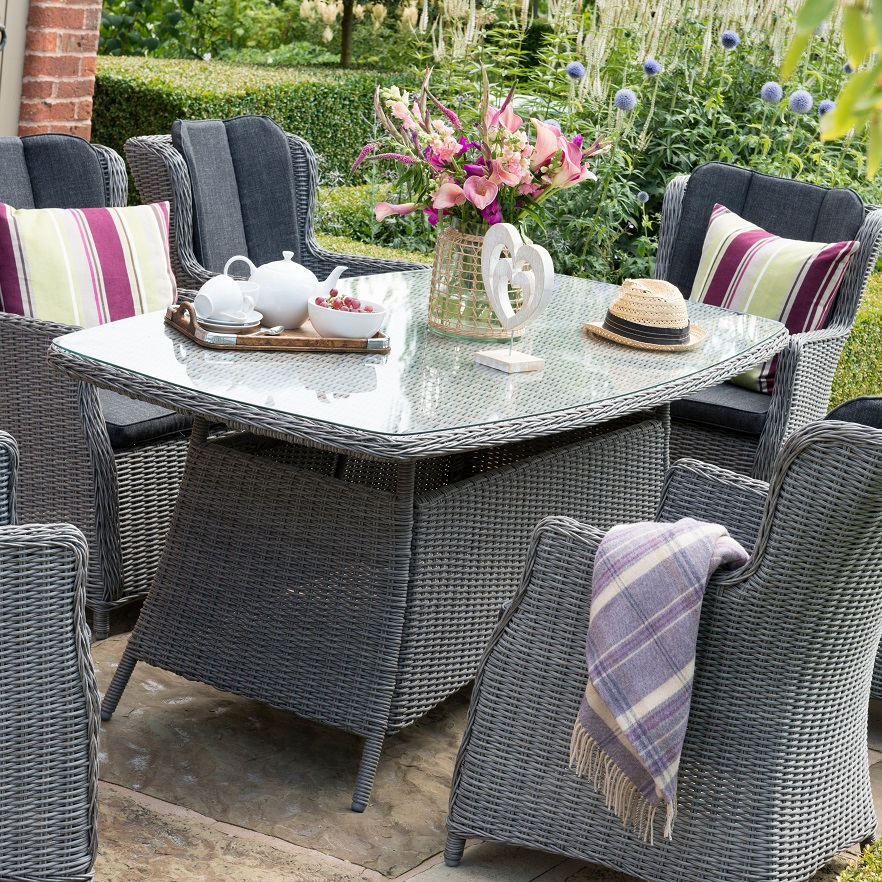 Small Image of Hartman Ravenna 6 Seater Weave Dining Funiture Set
