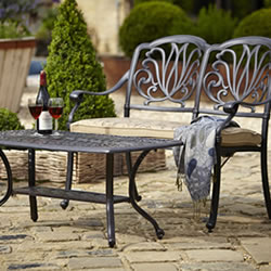 Small Image of Hartman Amalfi Bench and Rectangular Coffee Table Set