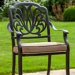 Small Image of Hartman Amalfi Comfort Dining Chair in Bronze / Amber
