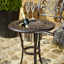 Small Image of Hartman Amalfi Bistro Table with Ice Bucket