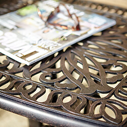 Extra image of Hartman Amalfi Square Side Table in Bronze