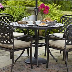 image of hartman berkeley 4 seater round dining set bronzedune