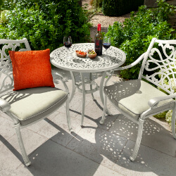 Small Image of Hartman Capri Bistro Set in Maize / Wheatgrass