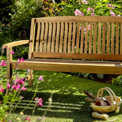 Small Image of Chartwell 2 Seater FSC Garden Bench from Hartman